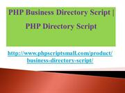 PHP Business Directory Script,PHP Directory Script