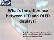 What's the difference between LCD and OLED displays