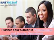 Further Your Career in Procurement and Supply Operations
