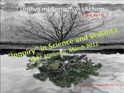 Inquiry in Science and Vedanta