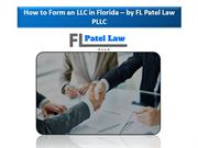FL Patel Law PLLC – Florida Business Law firm