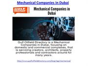 Hire one of the best mechanical companies in Dubai