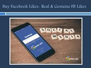Buy Facebook Likes- Real & Genuine FB Likes