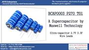 Maxwell Technologies Offers BCAP0003 P270 T01 Super Capacitor