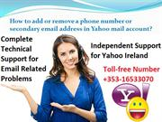 How to add or remove a phone number or secondary email address in Yaho