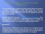 Emergency Plumbing - Managing Plumbing Emergencies