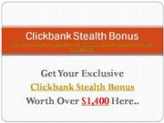 Clickbank Stealth Review | Huge Bonus!