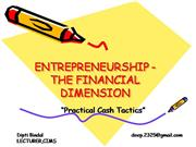 ENTREPRENEURSHIP-THE FINANCIAL DIMENSION