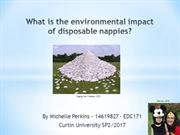 What is the environmental impact of disposable nappies?