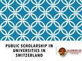 Public Scholarship in Universities in Switzerland