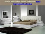 How to Choose Paint Color for a Bedroom - Home Improvement Contractors