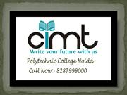 Cimt Polytechnic College Noida, List of Polytechnic College in Noida