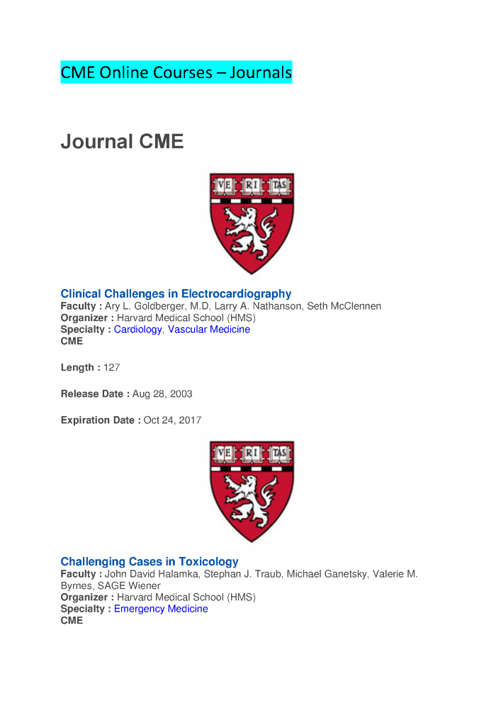 CME Online Courses - Journals CME | Emedevents |authorSTREAM