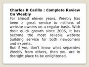 Charles K Carillo Complete review on Weebly