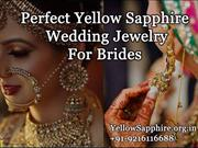 Perfect Yellow Sapphire Wedding Jewelry For Brides