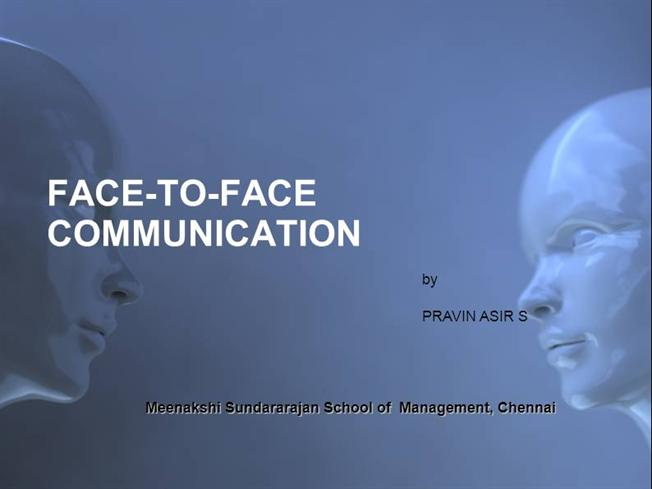 Face to Face Communication  authorSTREAM