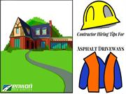 Contractor Hiring Tips For Asphalt Driveways
