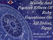 Malefic And Positive Effects Of Ruby Gemstones On All Zodiac Signs