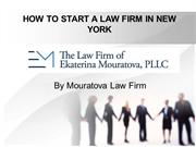 HOW TO START A LAW FIRM IN NEW YORK