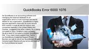 QuickBooks Error 6000 1076