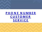Phone Number Customer ServIce