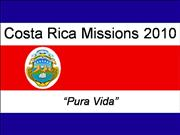 Costa Rica Missions Trip- 1st Meeting