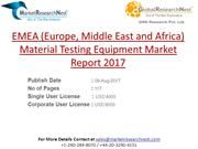 EMEA (Europe, Middle East and Africa) Material Testing Equipment Marke