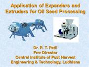 CIPHET- Expanders and Extruders for oil