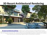 3D Resort Architectural Rendering