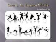 Sports: An Essence Of Life