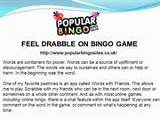 FEEL DRABBLE ON BINGO GAME