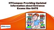 HTCampus: Providing Updated Information about Entrance Exams like GATE