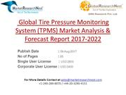 Global Tire Pressure Monitoring System (TPMS) Market Analysis & Foreca