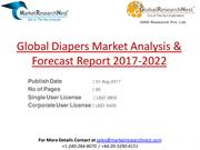 Global Diapers Market Analysis & Forecast Report 2017-2022