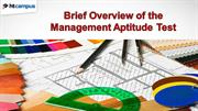 Brief Overview of the Management Aptitude Test