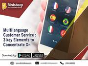 Multilanguage Customer Service 3 key Elements to Concentrate On