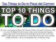 Top 10 Things To Do in Playa del Carmen with Playa-Vacation