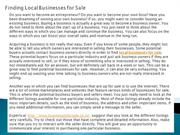 Finding Local Businesses for Sale