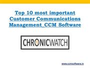 Top 10 most important Customer Communications Management_CCM Software