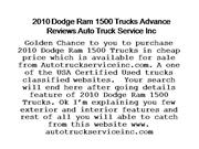2010 Dodge Ram 1500 Trucks Advance Revie
