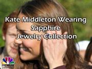 Kate Middle Wearing Sapphire Jewelry Collection