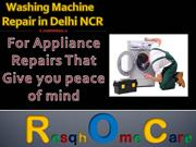 Washing Machine Repair in Delhi NCR