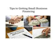 Tips to Getting Small Business Financing - VIP Financing Solutions