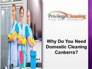 Why Do You Need Domestic Cleaning Canberra