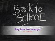 Essay writing services - How pay less