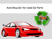 Auto Recycler for Used Car Parts
