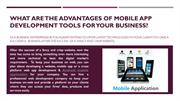 What are the Advantages of Mobile App Development