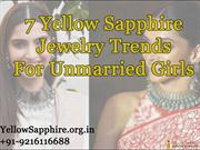 7 Yellow Sapphire Jewelry Trends For Unmarried Girls