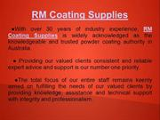 powder coating Melbourne - RM Coating Supplies