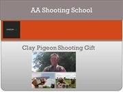 Clay Pigeon Shooting Gifts, Gift Voucher from AA Shooting School